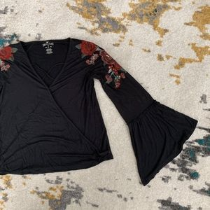 American Eagle Soft & Sexy Embroidered Top